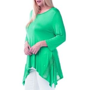 "Women's Plus Size Green Tunics Bust 50""-54"""